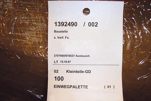 Kennzeichnung von Packstücken im Stahlhandel.