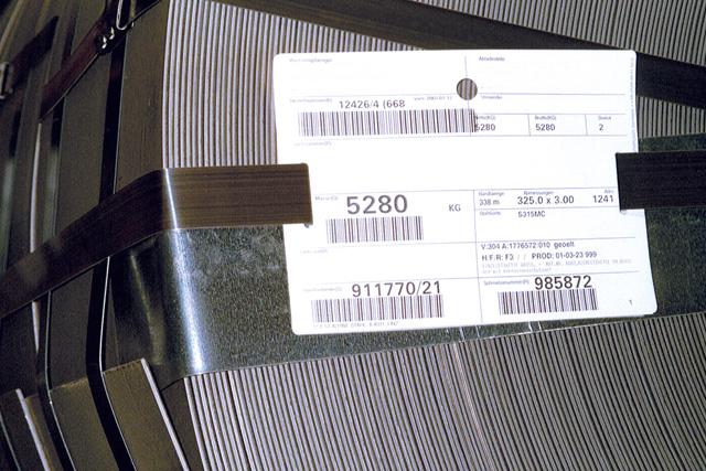 Kennzeichnung nach Odette/VDA für den Bereich Automotive.