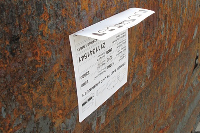 RFID-Etikett: der Trick mit dem Knick.