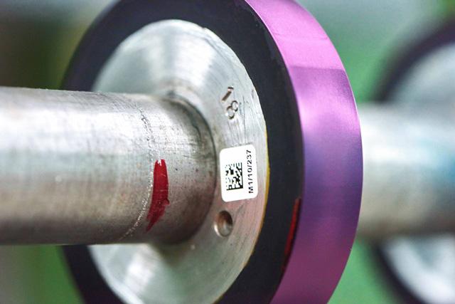Die richtige Komponente an der Maschine – einfache und schnelle Kennzeichnung.